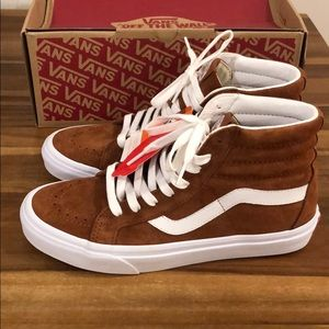 Vans sk8-Hi reissue leather brown (pig suede)